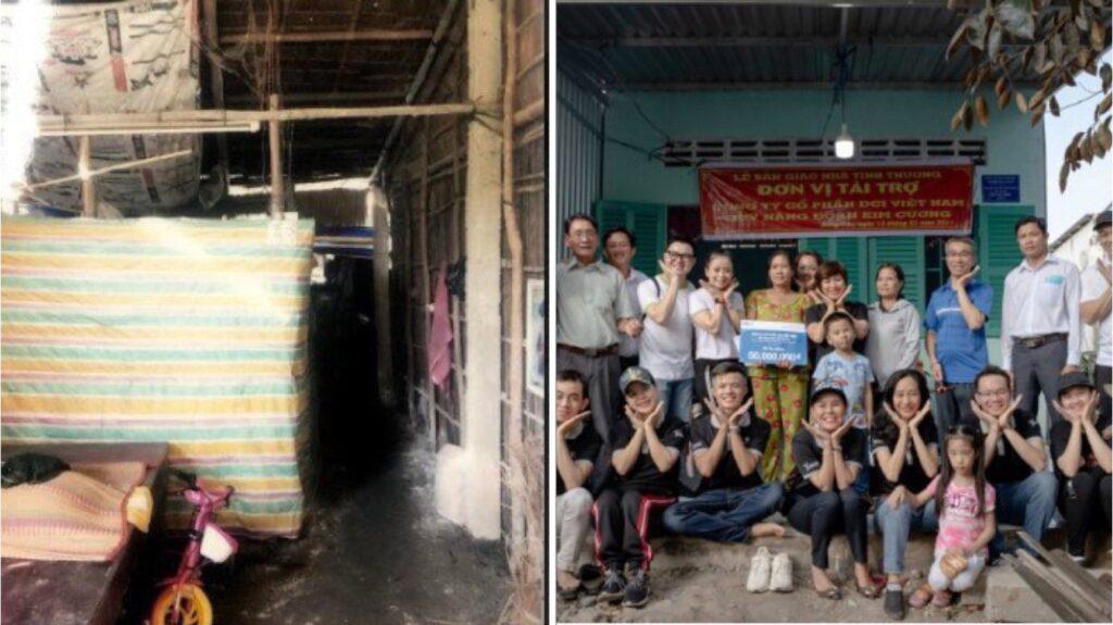 Trạo tặng 4 căn nhà tình thương tại Hậu Giang - DAGroup
