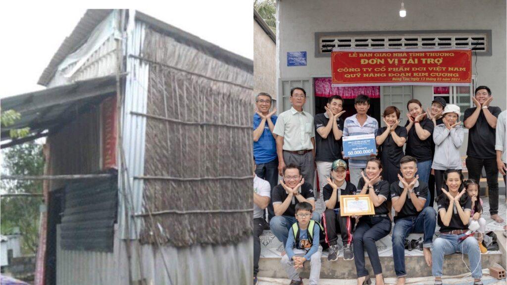 Trao tặng 04 căn nhà tình thương tại Hậu Giang - DAGroup